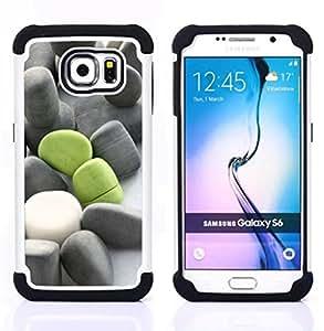 For Samsung Galaxy S6 G9200 - DEEP MEANING GREEN GREY BEACH Dual Layer caso de Shell HUELGA Impacto pata de cabra con im??genes gr??ficas Steam - Funny Shop -