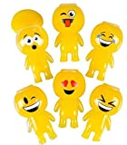 PACK OF 12 / 3.25'' EMOJI Shape SLIME Containers / Barrels o slime / YELLOW