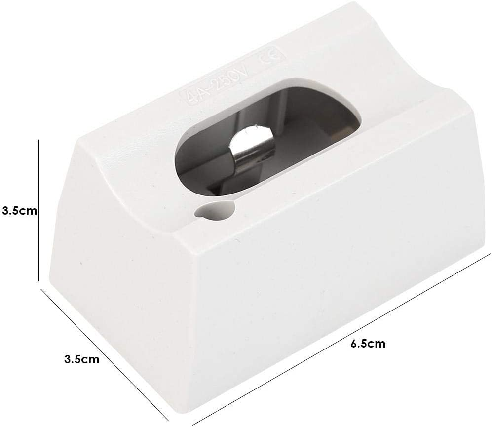 Wei/ß Slibrat S14D Lampenfassung AC85-250V Spiegel Wandleuchte Sockel Basis Adapter