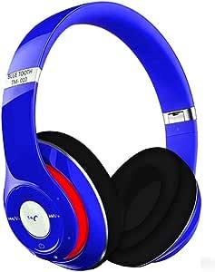 مارجون TM-010s سماعة ستيريو سلكية فوق الاذن متوافقة مع اتش تي سي، هواوي، ال جي، زيلومي، سامسونج باللون الأزرق