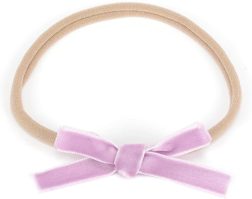 marshmallow white wine rosewood cherry Mini felt bow on clips or nylon headband pastel 4 pack for baby girl: burgundy