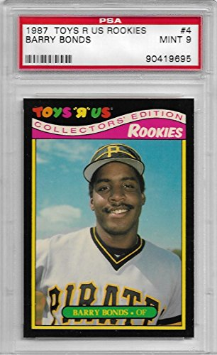 1987 Topps Toys R Us Rookies #4 Barry Bonds Rookie Card PSA 9 Mint
