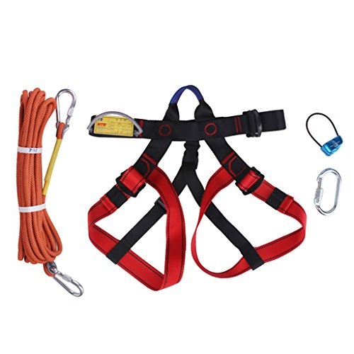 Homyl Climbing Harness Set, Protect Waist Safety Harness, Wider Half Body Harness for Mountaineering Fire Rescuing Rock Climbing Rappelling Tree Climbing by Homyl