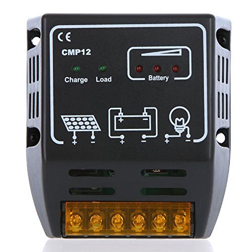 10A 12V/24V Solar Charge Controller Solar Panel Battery Regulator - 1