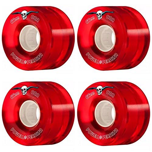 スタッフ役員配送powell-peralta Clear Cruiserレッド66 mm 80 aソフトスケートボードLongboard Wheels