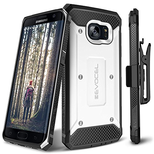 Galaxy S7 Edge Case, Evocel [Explorer Series] Premium Full Body Case with Rugged Belt Clip Holster for Samsung Galaxy S7 Edge (SM-G935 / 2016 Release), White (EVO-SAMG935-ZZ18)