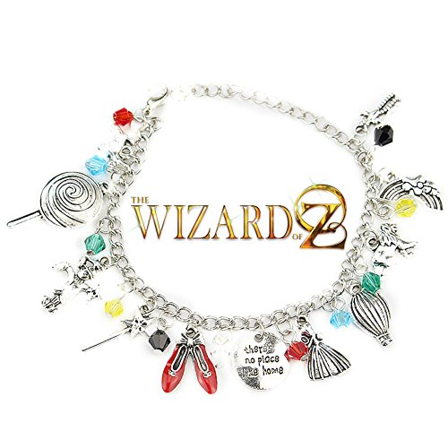 The Wizard of Oz Classic Movie Themed Silvertone Metal Charm Bracelet for $<!--$8.79-->