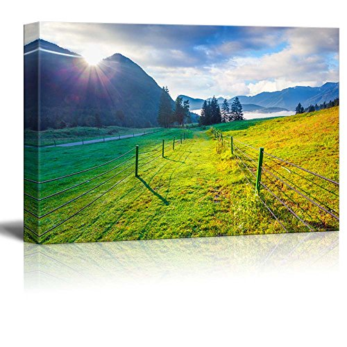 Beautiful Scenery Landscape Colorful Summer Morning in the Triglav National Park Slovenia Julian Alps Europe Wall Decor ation