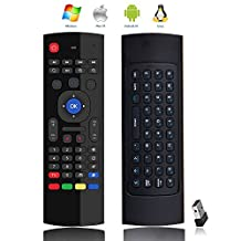 GooBang Doo(TM) MX3 Multifunction 2.4G Air Mouse Mini Wireless Keyboard & Infrared Remote Control & 3-Gyro + 3-Gsensor W USB Wireless Receiver for Google Android Smart TV Box G Box IPTV HTPC Mini PC Windows iOS MAC Linux PS3 Xbox 360