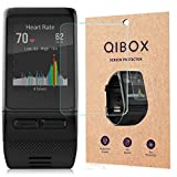 Garmin Vivoactive HR Tempered Glass Screen Protector (3-Pack), QIBOX 9H Hardness Multi-layer Explosion-proof and Anti-Bubble Screen Guard for Garmin Vivoactive HR