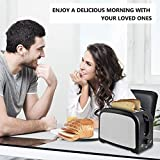 Toaster 2 Slice Toasters Best Rated Prime Toaster Compact Brushed Stainless Steel Toaster Black Small Toaster For Breakfast Bread Defrost Reheat Cancel Button Removable Crumb Tray Quickly Toast