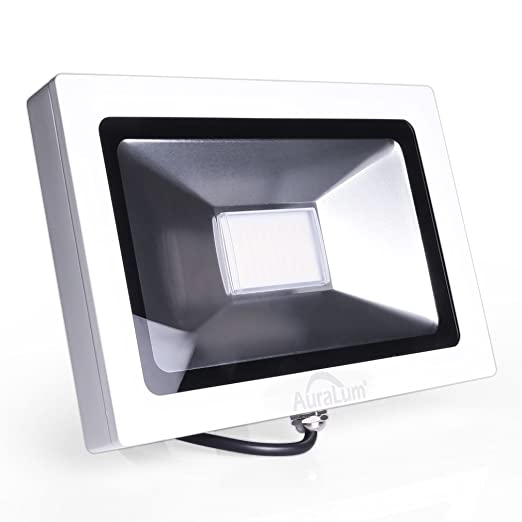 Auralum 30W SMD 3030 2250LM Blanco Cálido Luz Proyector LED Foco Proyector, IP65 Impermeable Resistencia