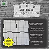 Dry Erase Dungeon Tiles, Set of 36 five-inch interlocking squares for role-playing and miniature tabletop games