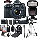Canon EOS 5D Mark IV with EF 24-105mm f/4L IS II USM Lens - With Canon BG-E20 Battery Grip + Professional Accessory Bundle (15 items)