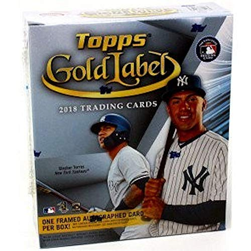 (2018 Topps Gold Label Baseball Hobby Box (7 Packs/5 Cards: 1 Auto, 4 Parallels))