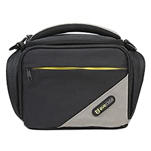 Evecase Black Small Digital SLR DSLR Camera Pouch Carrying Case with Shoulder Strap and Handle