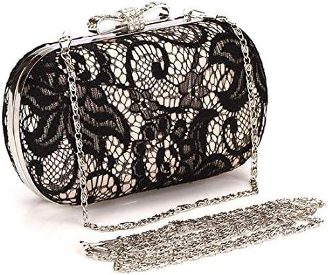 クロスボディバッグ、レースバタフライサテンサテンイブニングバッグ、クラッチバッグ、財布、(カラー:ゴールド)クラシックエレガンス 美しいファッション