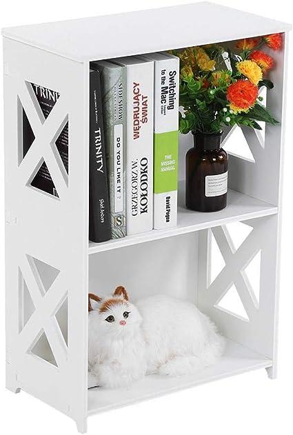 YXZQ Estante, estantería pequeña, exhibición de Libros de pie ...