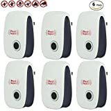 Ultrasonic Pest Repeller, ADiPROD Home Pest Control Repellent Plug In Electronic Nontoxic Insects & Rodeents Reject for Mosquito, Mouse, Cockroaches ,Rats,Bug, Spider, Ant, Flies (6 Packs)