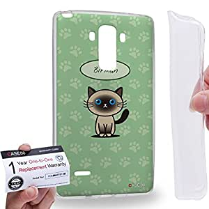Case88 [LG G4 Stylus] Gel TPU Carcasa/Funda & Tarjeta de garantía - Art Hand Drawing Birman Cartoon Kitten Art1273