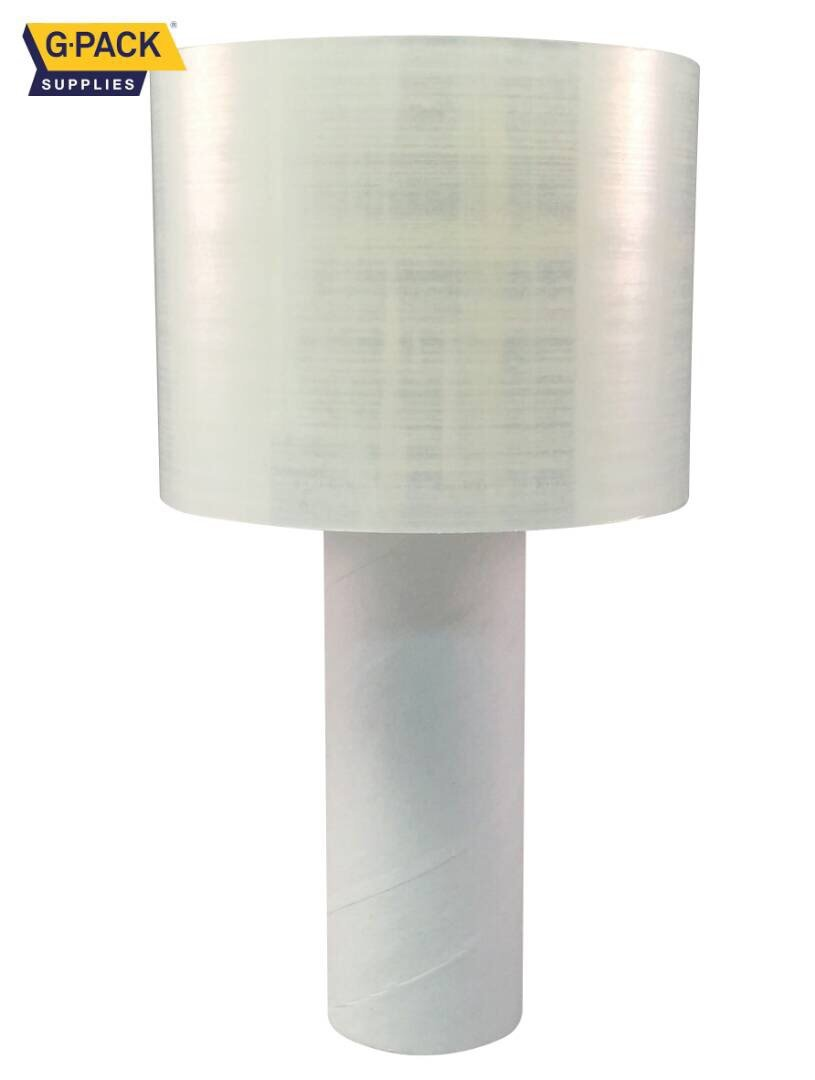 Shrink Wrap Mini With Dispenser 3'' x 1000 ft Stretch Film Moving and Packaging Plastic Wrap Film Heavy Duty 80 Gauge