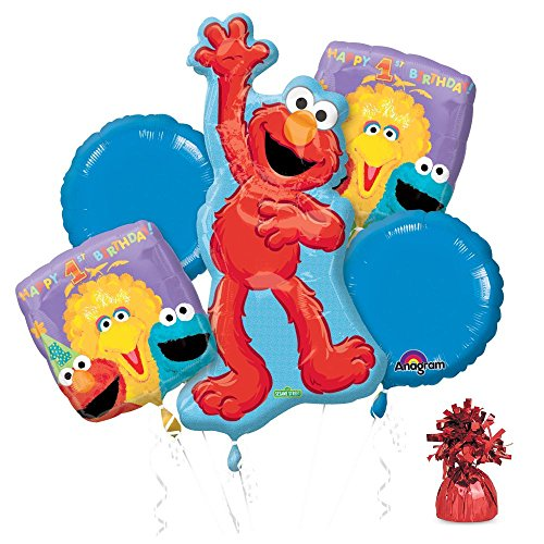 Sesame Street Birthday Decoration Ideas (Costume Supercenter BB101502 Sesame 1st Birthday Balloon Kit)