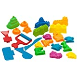 Sand Molds Kit (23 pcs) - Use with Kinetic Sand, Sands Alive, Brookstone Sand, Waba Sand, Moon Sand and All Other Molding Play Sand Brands - (Sand not included)