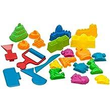 USA Toyz Kinetic Sand Molds and Tools Kit - 23 Piece Kinetic Sand Molds + 5 Sand Art Tools for Magic Sand Brookstone Moon Dough and More