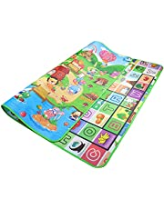 Baby Early Development Playmats, 59x71 Inch Toddlers Crawling Mat Kids Area Rugs Learning Alphabet Educational Foam Play Mat Folding Waterproof for Baby Girls & Boys Bedroom Playroom