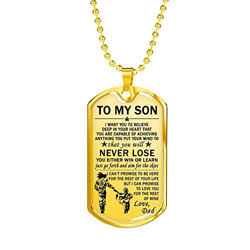 To My Son Dog Tag
