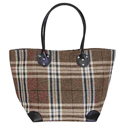 Clayre & Eef bag281Borsa Shopper Borsa da spiaggia borsa Shopper Marrone circa 30x 20x 34cm