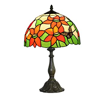 Topdeng TableVintage Lampe Déco Tiffany De Style Vitrail E27 Y7gbv6ymIf