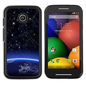 /Skull Market/ - Space Earth Planet Start For Motorola Moto E (1st Gen, 2014) - Mano cubierta de la caja pintada de encargo de lujo -