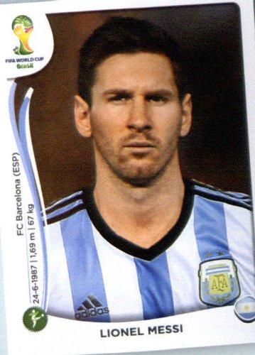 2014 Panini World Cup Soccer Sticker #430 Lionel Messi Mint