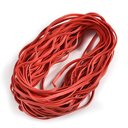 Coopay 60 Pieces Large Rubber Bands Trash Can Band Set Elastic Bands for Office Supply, Trash Can, File Folders, Cat Litter Box, Size 8 inches(Red) ()