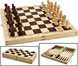 Folding chess & Backgammon wooden travel games compendium by Philos, Philos