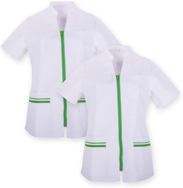 Misemiya Ref.702 Pack*2 V/ÊTEMENTS DE Travail Femme Manches Courtes Uniforme Clinique H/ÔSPITAL Nettoyage V/ÉT/ÉRINAIRE SANT/É H/ÔTELLERIE