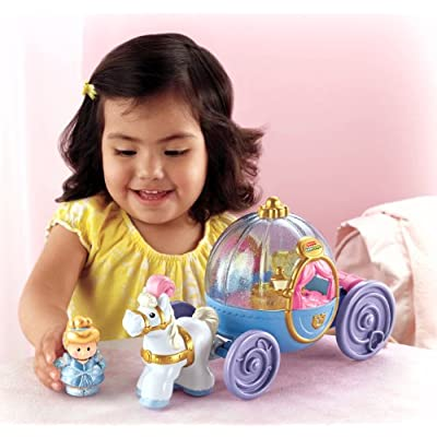 Fisher-Price Little People Disney Princess Vehicle Assortment: Toys & Games