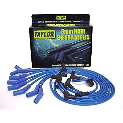 Taylor Cable 64604 Blue 8mm High Energy Spark Plug Custom Wire Set: Automotive