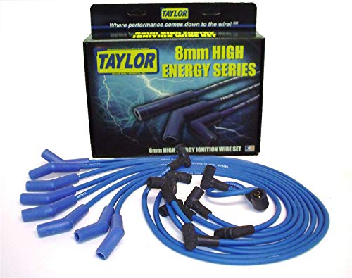 (Taylor Cable 64604 Blue 8mm High Energy Spark Plug Custom Wire Set)