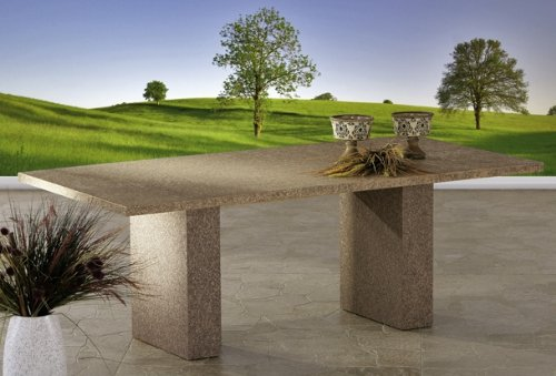 ARIZONA Tisch 200 x 100 cm Alu-Spraystone anthrazit Best