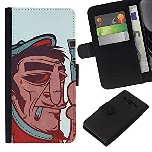 All Phone Most Case / Oferta Especial Cáscara Funda de cuero Monedero Cubierta de proteccion Caso / Wallet Case for Samsung Galaxy A3 // French Artist - Funny Vintage Poster