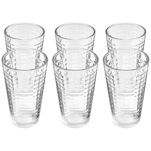 Amethya Drinking Glass Beverage (17 Oz, 6-Pack)