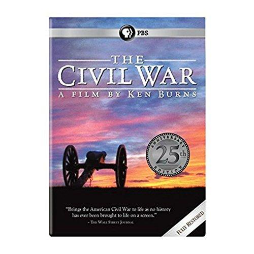 THE CIVIL WAR BY KEN BURNS 25th ANNIVERSARY EDITION DVDS (6 DISCS SET)