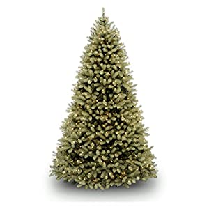 National Tree Feel-Real Down Swept Douglas Fir Hinged Tree with 1000 Low Voltage Dual LED Lights 103