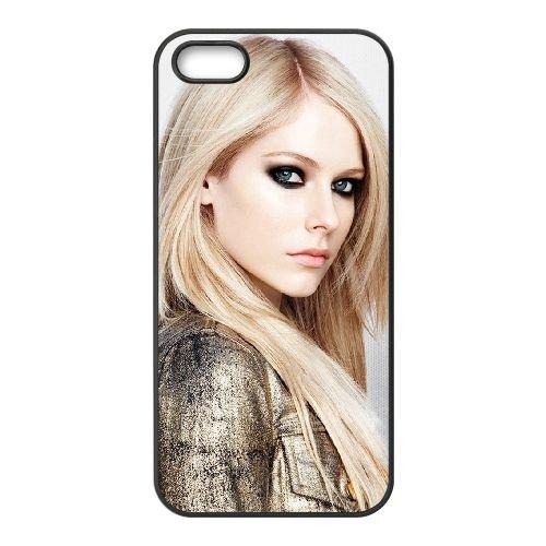 Avril Lavigne 001 coque iPhone 4 4S cellulaire cas coque de téléphone cas téléphone cellulaire noir couvercle EEEXLKNBC23257