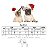 oneisall Dog Christmas Tree Hoodie Sweater Pet Puppy Shirts Costume Clothes Apparel for Halloween Christmas Holiday Festival Party,Red,XL