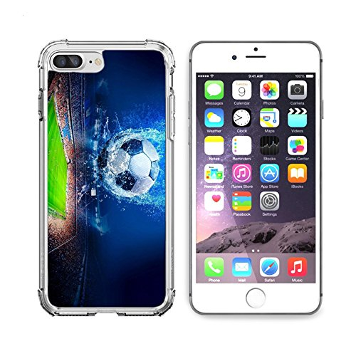 - MSD Apple iPhone 6 plus iPhone 6s plus Clear case Soft TPU Rubber Silicone Bumper Snap Cases iPhone 6plus/6s plus IMAGE of soccer grass stadium ball field sport game football green goal competition l