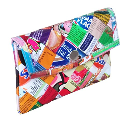 Snap coin purse made of candy wrappers - FREE SHIPPING - upcycled eco friendly vegan recycled reclaimed salvaged handmade unique gift wallet purse gum sweets wrapper vegetarians upcycle recycle
