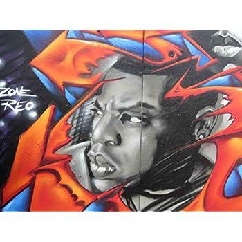 Amazon com: Wall Graffiti Jay Z Graphic on vinyl Spray Paint